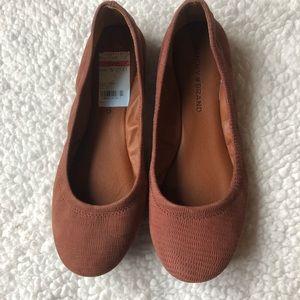 NWT Lucky Brand Rust Ballet Flats 7.5